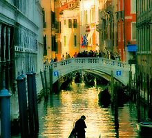 Italy. Venice lonely boatman by JessicaRoss