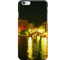 Italy. Venice Night lights iPhone Case/Skin