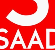Retro CTA sign Saad Sticker