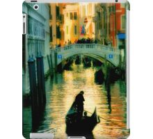 Italy. Venice lonely boatman iPad Case/Skin