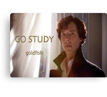 Go Study-Sherlock Holmes v3 Canvas Print