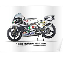Honda Rs125R - 1989 Ezio Gianola Poster