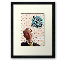 Mycroft Valentine's Day Card  Framed Print
