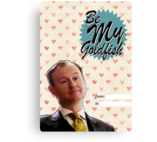 Mycroft Valentine's Day Card  Canvas Print