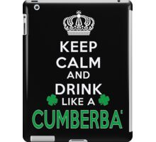 Keep calm and drink like a CUMBERBATCH iPad Case/Skin