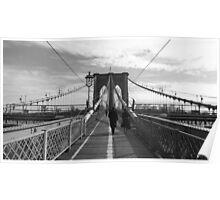 Black White New York Brooklyn Bridge nr 1 Poster