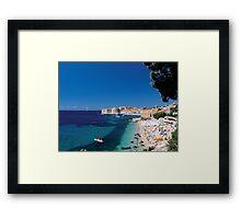 Croatia by the Beach Framed Print