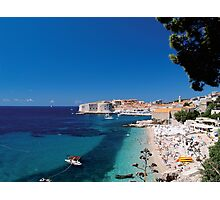 Croatia by the Beach Photographic Print