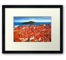 Croatia Rooftops Framed Print