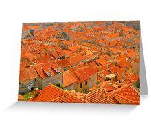 Croatia Buildingtops Greeting Card