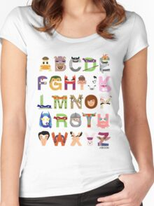 Teenage Mutant Ninja Turtle Alphabet Women's Fitted Scoop T-Shirt