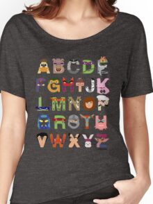 Teenage Mutant Ninja Turtle Alphabet Women's Relaxed Fit T-Shirt