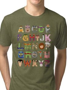 Teenage Mutant Ninja Turtle Alphabet Tri-blend T-Shirt