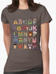 Teenage Mutant Ninja Turtle Alphabet Womens Fitted T-Shirt