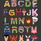 Teenage Mutant Ninja Turtle Alphabet by Mike Boon