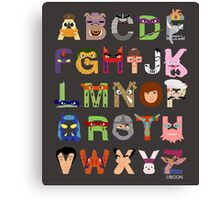 Teenage Mutant Ninja Turtle Alphabet Canvas Print