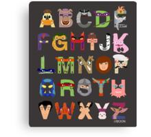 Teenage Mutant Ninja Turtle Alphabet Canvas Print