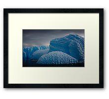 Heavily Patterned Iceberg Antarctica Framed Print