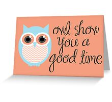 Owl-entine Card 2 Greeting Card