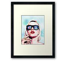 Iggy Azalea- Blue Framed Print