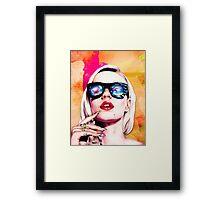 Iggy Azalea- Orange/Pink Framed Print