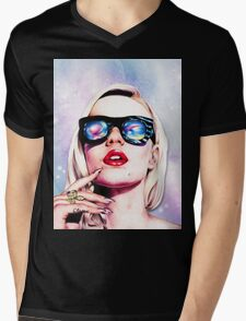Iggy Azalea- Pink/Purple Mens V-Neck T-Shirt