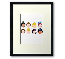 All the Princesses Framed Print