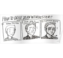 How to Draw Dean Winchester Poster