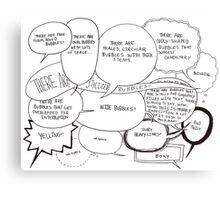 Speech Bubbles  Canvas Print