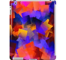 Building with blocks of a rainbow iPad Case/Skin