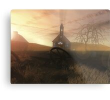 Little Country Church Metal Print