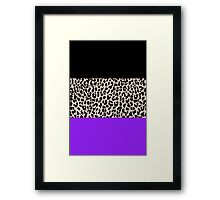 Leopard National Flag IX Framed Print