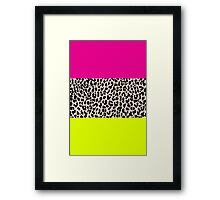 Leopard National Flag X Framed Print