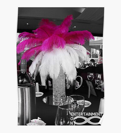 Pink & White Centrepiece Poster