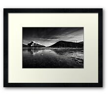 Mt Rundle and Vermillion Lakes Framed Print