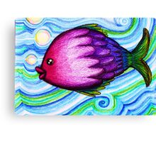 F is for Fish Canvas Print