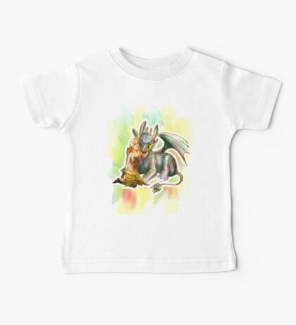 Game of Thrones + How to Train Your Dragon Dany + Toothless Baby Tee