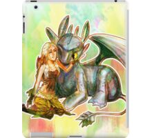 Game of Thrones + How to Train Your Dragon Dany + Toothless iPad Case/Skin