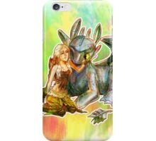 Game of Thrones + How to Train Your Dragon Dany + Toothless iPhone Case/Skin