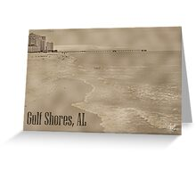Ocean View of Gulf Shores Greeting Card