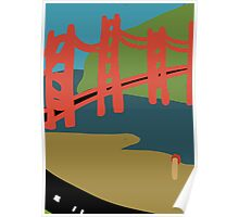 Golden Gate Bridge from the Migration Series Poster