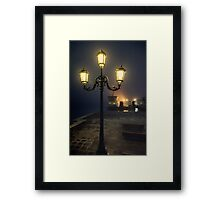 Through the mist in Venice Framed Print
