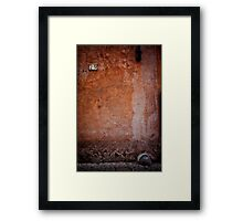 Rustic building wall Framed Print