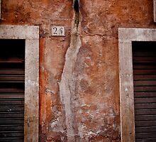 Rome building wall by Jai Honeybrook