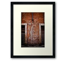 Rome building wall Framed Print
