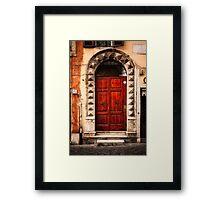 Doorway in Rome Framed Print