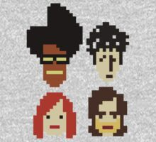 The IT Crowd 8-bit faces by ottou812