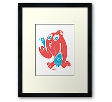 ink stain on my heart - color Framed Print