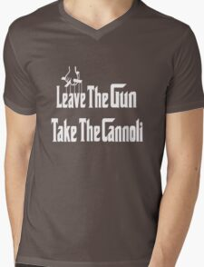 Leave The Gun Take The Cannoli Dark Hoodie Mens V-Neck T-Shirt