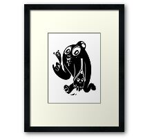 ink stain on my heart - black Framed Print